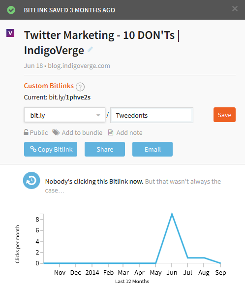 Bit.ly - shorten your links and track their clicks