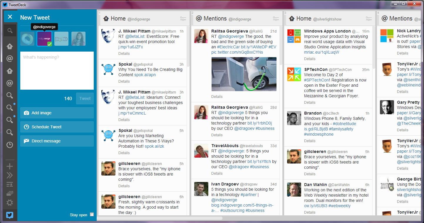 TweetDeck - post and monitor your tweets