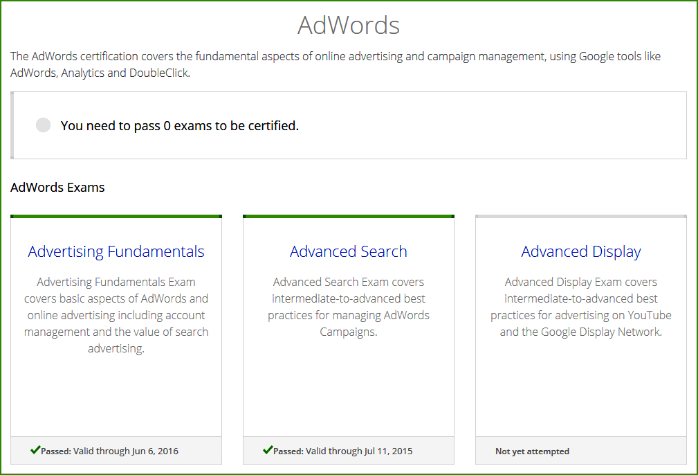 Google Adwords Exam
