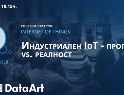 IndigoVerge CEO Ivan Dragoev speaking at the Internet of Things user group January meetup