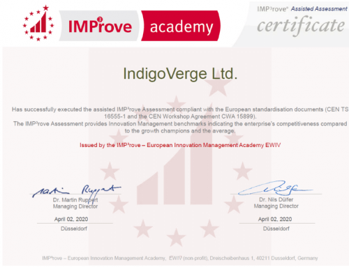 IndigoVerge has been officially certified by IMP³rove Academy